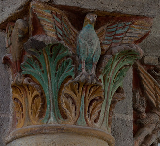 Saint-Nectaire Abbey Capital Eagle