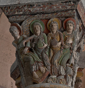 Saint-Nectaire Abbey Capital, The Three Marys at the Tomb