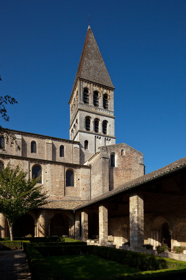 Tournus, Saint-Philibert Abbey Cloister and Tower