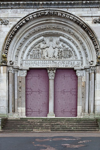 Vezelay Sainte-Madeleine Abbey West Facade Central Portal