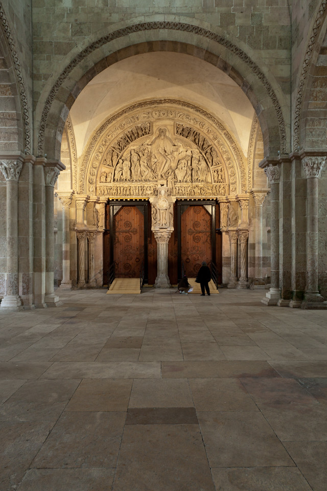 Vezelay Sainte-Madeleine Abbey Narthex Entrance, Christ in Majesty