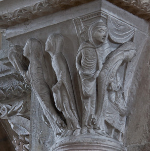 Vezelay Sainte-Madeleine Abbey Nave Capital, Judith and Holofernes