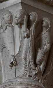 Vezelay Sainte-Madeleine Abbey Judith Holding Holofernes Head