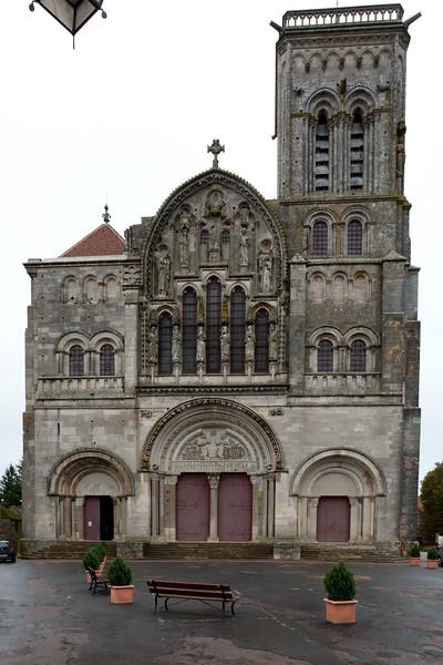 Vezelay Sainte-Madeleine Abbey West Facade