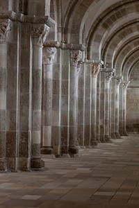 Vezelay Sainte-Madeleine Abbey Aisle Columns