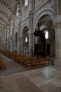 Vezelay Sainte-Madeleine Abbey Nave Elevation