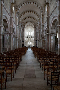 Vezelay Sainte-Madeleine Abbey Nave and Choir