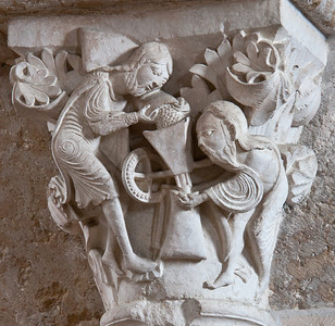 Vezelay Sainte-Madeleine Abbey Nave Capital, The Mystic Mill