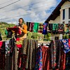 Colorful skirts and kerchiefs for sale