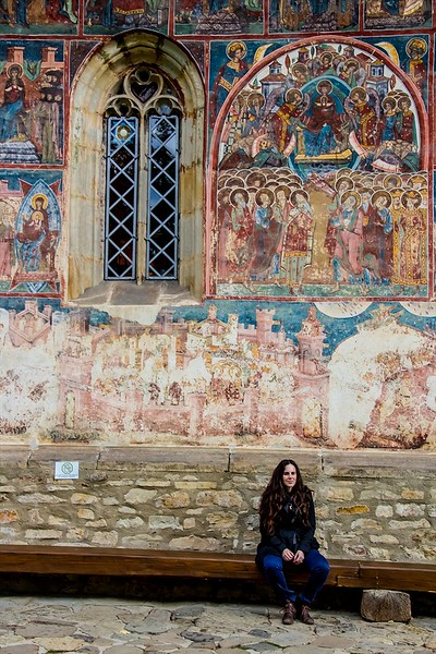 15th Century painted church at Voronet in the Bucovina Region,