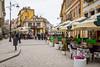 A street scene in central Constanta, Romania.