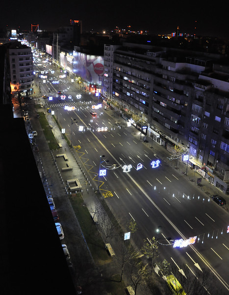 Bucharest's Bulevardul Nicolae Balcescu From Above. 2017.