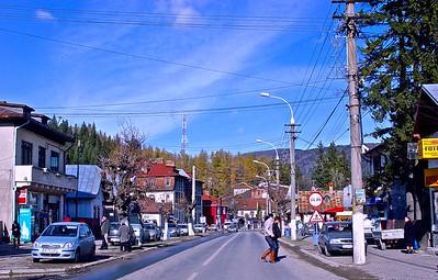 A typical Transylvania town