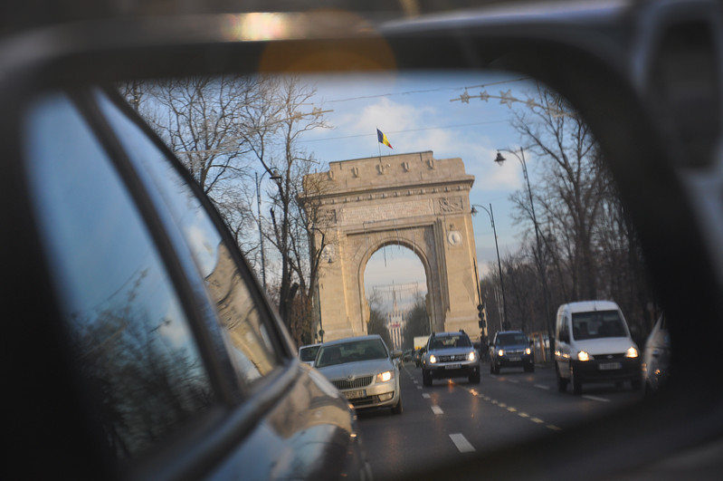 Arcul de Triumf in Bucharest. 2017.