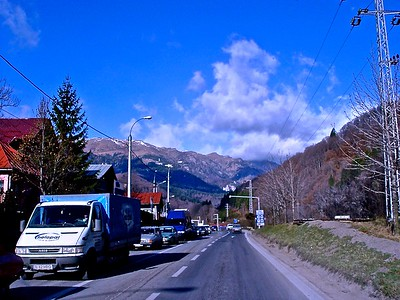 Along the Romanian highway to Brasov