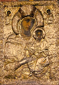 Icon of The Virgin in the Cretulescu Church in Bucharest Romania