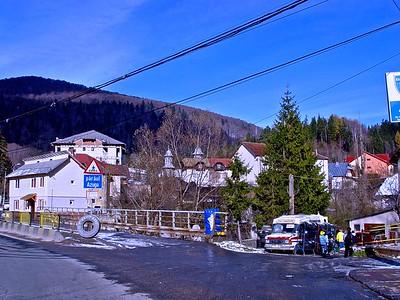A typical Transylvania Town in Romania