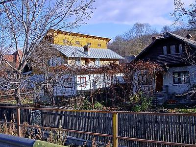 A Romanian Village in the Transylvania Carpathian Mountains