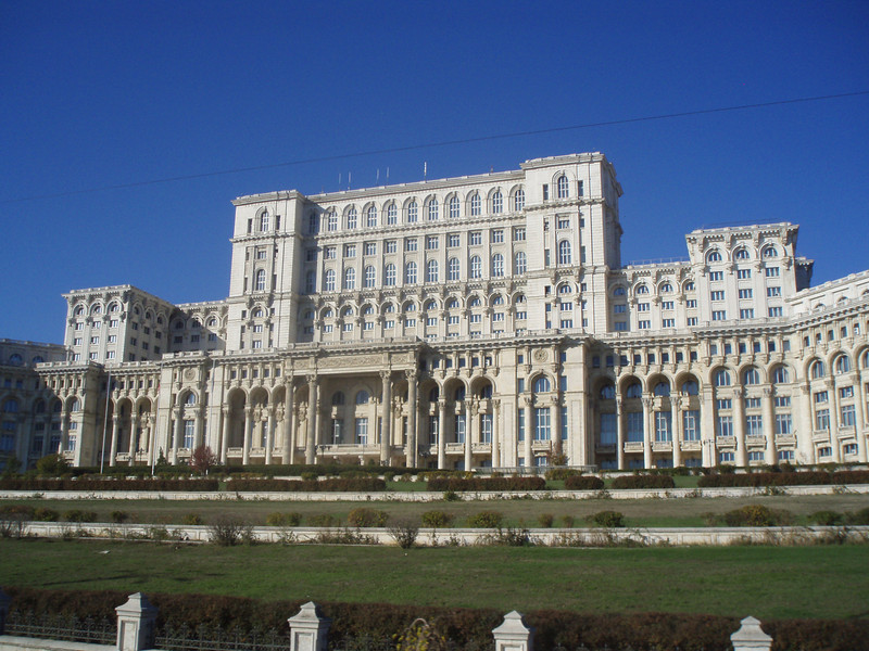 On our last day in Bucharest, we took a tour of the massive Palace of Parliament.  No photos inside, but it was truly amazing, gaudy, opulent, and big.