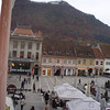 "Brasov has it's own ""hollywood"" sign on the hill above town - there is a cable car going up, but it wasn't running in the rain."