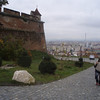 The fortress in Brasov is up a hill, through a residential area.  It was a long climb, but the view was nice.
