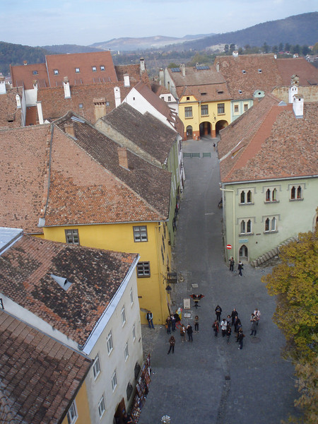 "Sighisoara (""sigi-sho-wara"") is a wonderful little town which dates back to the 12th century - the citadel, up a steep set of stairs from the newer town, has several squares, old buildings, and a gothic belltower."