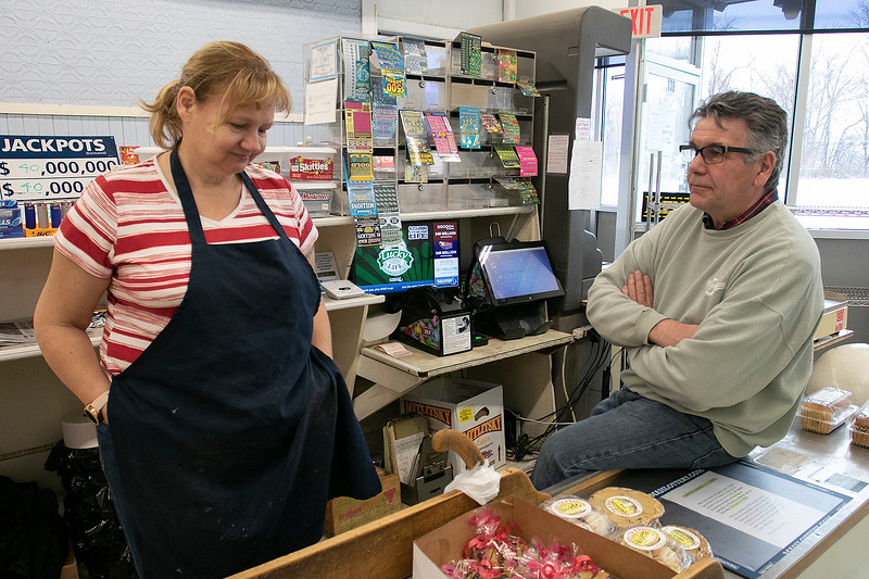 Romano's Market in Fitchburg will be closing its doors on Saturday, Feb. 15, 2020 for the last time. The family of Mike Romano, who owned the market and passed away recently, got together on Thursday at the market to talk about him, the history of the market and their reason they are closing. Richard Romano talks with employee Katie Bennett as he mans the register on Thursday. Bennett has been working at the market for the past 16 years. SENTINEL & ENTERPRISE/JOHN LOVE