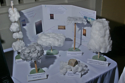 From the Department of Science: an exhibit featuring the Clouds, presented by the students in the Meteorology class.