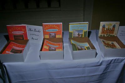 Children's books created by the students in the Advanced Art class.
