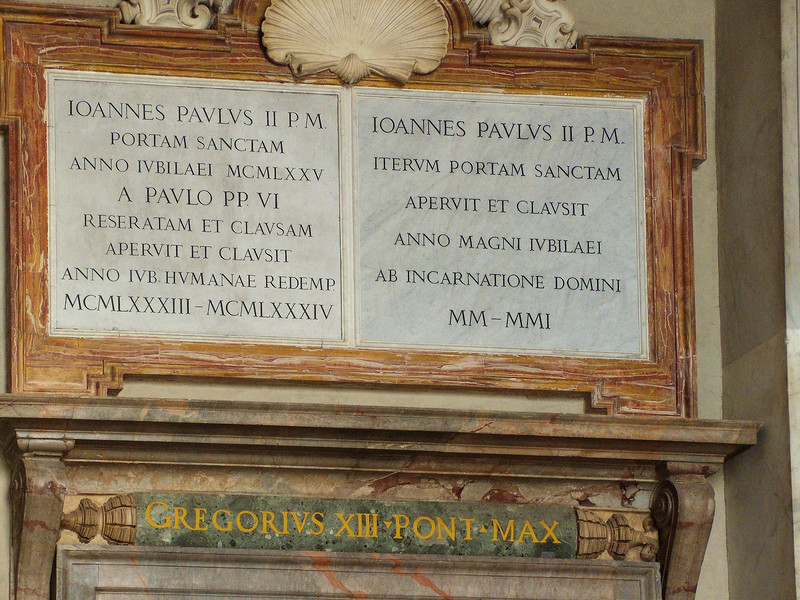 Inscription over Holy Door, St. Peter's  Basilica