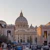 St. Peter's Basilica viewed from Via della Conciliazione, Vatican City, Italy