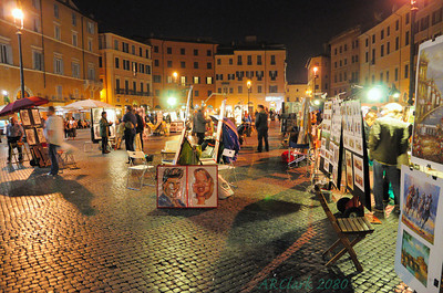 Art on display at Piazza Navona