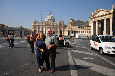 Just out of the cab at St. Peters - Amazing!