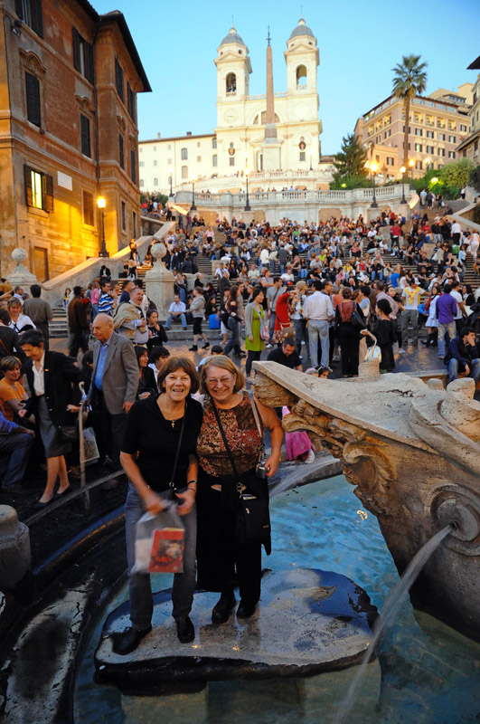 View back up the Spanish Steps