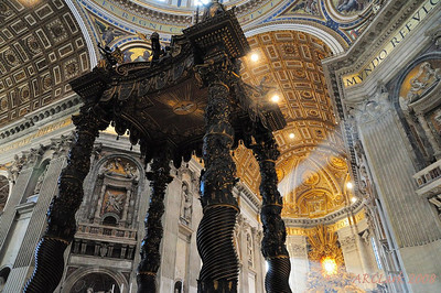Bernini's Baldacchino (from 1600s)