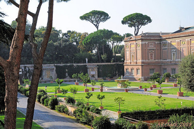 View from window of Vatican Garden