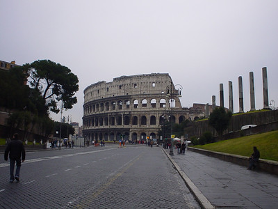 The Colosseum (1)  Yup, it's just down the road.  Not out in the middle of no where as I was expecting.