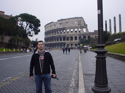 The Colosseum and I  Just to prove I was there - and I wasn't photoshopped in :-)