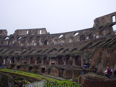 Inside the Colosseum (2)  Taken from the lower level that is open to the public.