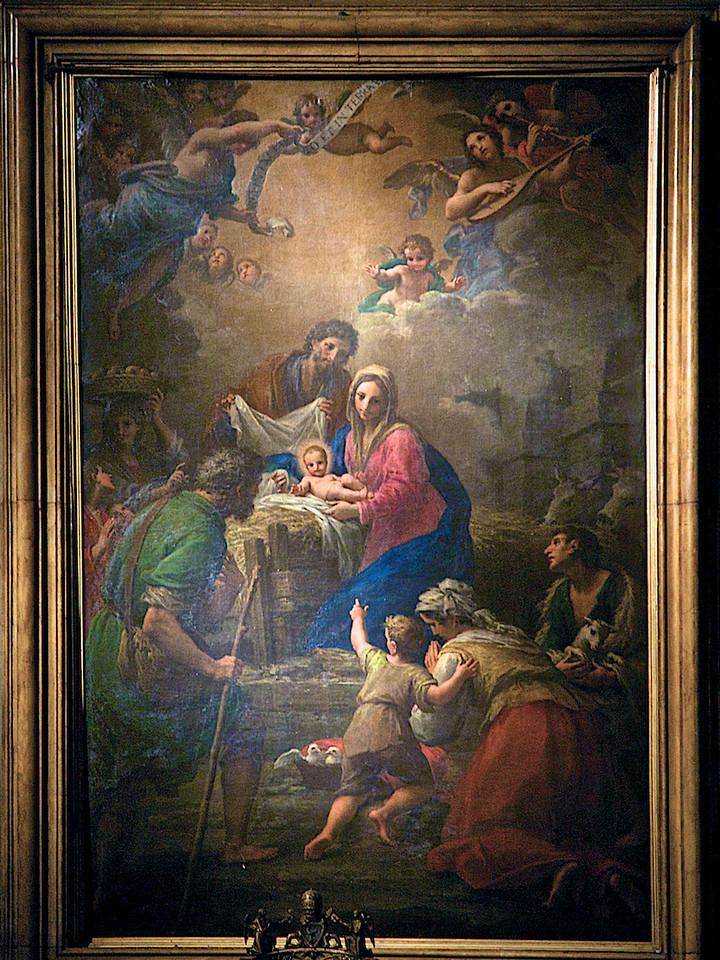 Tableau de la Vierge de la Nativité à Ste Marie Majeure.