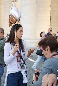 Christina notre guide touristique en Italie.