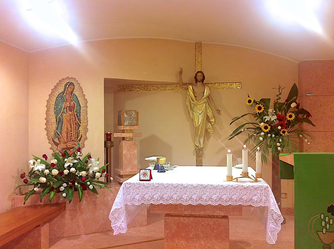 Chapelle de la Maison Villa Maria Inn tenue par les petites soeurs Mexicaines.