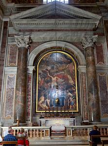 Nouvel emplacement du cercueil de Jean-Paul II.