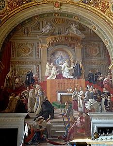 Musée du Vatican. Fresque représentant