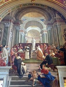 Musée du Vatican . Fresque représentant