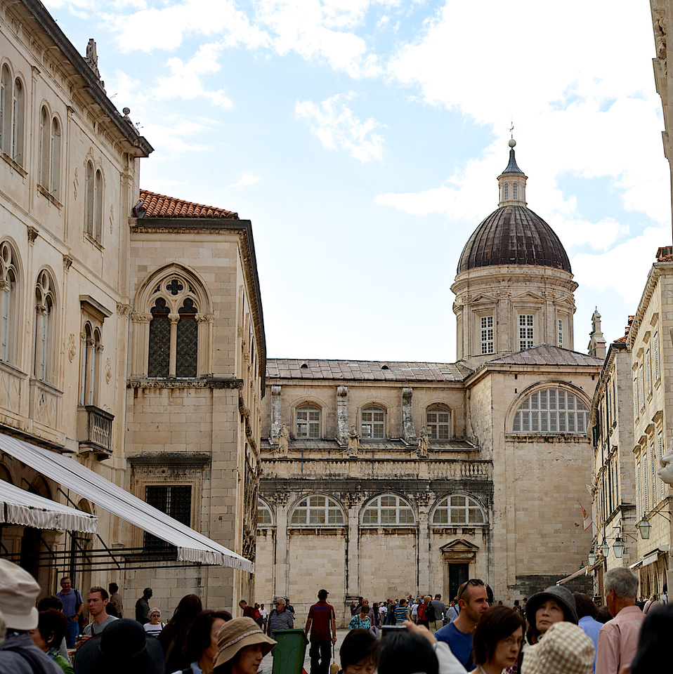 Dôme de l'église Saint Blaise dans le vieux Dubrovnik.L'église Saint Blaise est à la fois la cathédrale de Dubrovnik.