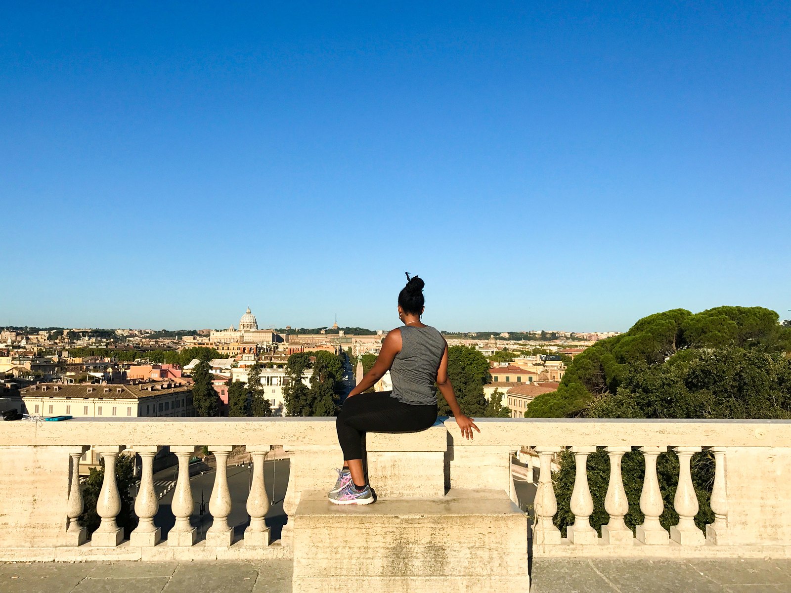 Villa Borghese Viewpoint in Rome