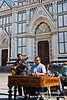 Street performers in front of Il Duomo, Florence
