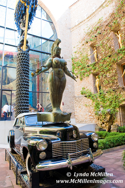 Dali's central art installation at his self-made museum in Figueres, Spain.