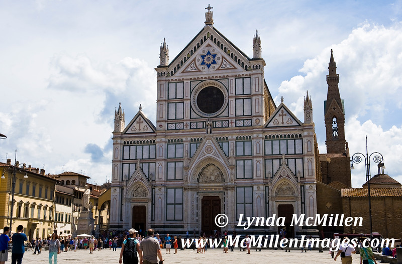 Basilica of the Holy Cross (Santa Croce) consecrated in 1442.